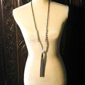 Multi beaded Necklace with Tassel